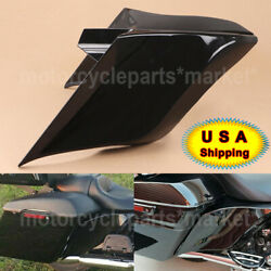 Pair Motorcycle Vivid Black Stretched Side Covers For Harley Touring Flhr/t/x
