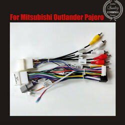 Car 16pin Audio Wiring Harness W/canbus For Mitsubishi Outlander Pajero Stereo