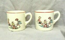 2 Vintage Home Radio And Furn. Co. Bangor And Calais Me Ceramic Childrenand039s Cups Ads