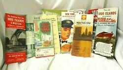 11 Vintage 1920s-60s New York State Maps Brochures Travel Sightseeing Souvenirs