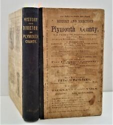 1860s Antique Plymouth County Ny 2part History And Directory Genealogy Ads