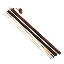 G And G The Star Fly Rod Bamboo 230cm 4 2pc 2tip Dutch Leather Wrap Rod Case