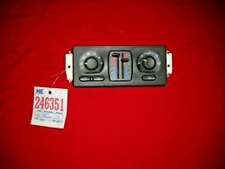 2006 Chevy Trail Blazer Manual Style Heater/ac Controler