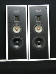Meridian Audio A330 In/wall 2 Way Speakers White Metal Cabinets Pair