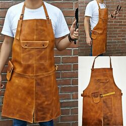 Leather Apron For Butcher Bbq, Grill, Kitchen, Woodwork, Barber Welding Tabacco