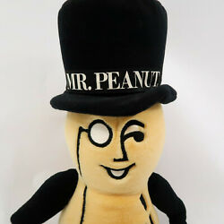 Vintage 1991 26 Planters Mr. Peanut Plush Stuffed Doll With Cane Collectible