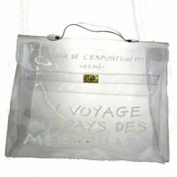 Sale Previously Owned Hermes Vinyl Kelly Handbag Clear 80bs407 No.9840