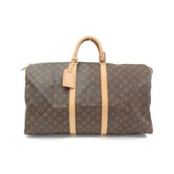 Sale Louis Vuitton Monogram Keepol 55cm M41424 Previously Owned No.1181