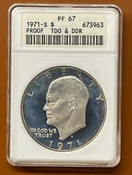 1971-s Eisenhower Dollar Silver Proof Tdo Ddr Anacs Pf67 Pf-67 Coin - Tcccx