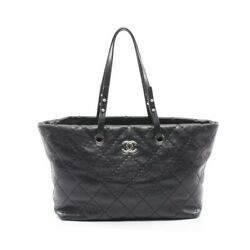 On The Road Tote Bag Razor Black Silver Fittings A48019 No.6832