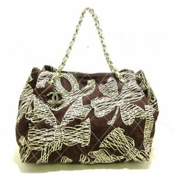Previously Owned Wild Stitch Tote Bag Silver Fittings Coco Mark No.9623