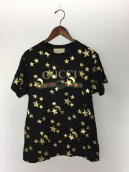 Previously Owned Moon Star T-shirt Xxs Cotton Blk Total Pattern No.3358