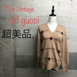 Sale Super Rare Vintage With Logo Long Sleeve Knit Sweater No.1985