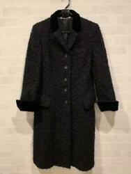 Authentic Ladyand039s Mohair Wool Chester Coat Black Size 40 Almost No.3578
