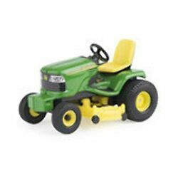 New John Deere Lawn Tractor Toy Garden Farm 1/32 Scale Green And Yellow For Kids