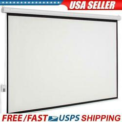100 Inch Hd 43 169 Manual Electric Motorized Projector Screen + Remote Control