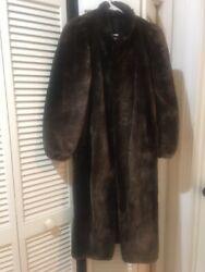 Beaver Mink Coat Full Length Excellent Condition From Estate Sale Size S-m