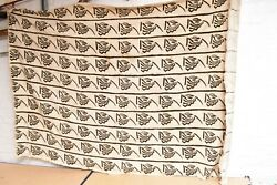 African Large Black White Mud Cloth Textiles Mali 52 X 72 Woven Tribal Fabric