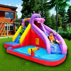 Safety Inflatable Bounce House Kids Castle With Water Outdoor Play Areas New