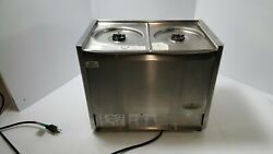 Crathco D25-3 Classic Bubbler Series Double 5 Gallon Bowl Stainless Steel Refrig