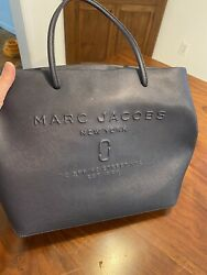 Auth MARC JACOBS Navy Leather Tote Bag $125.00