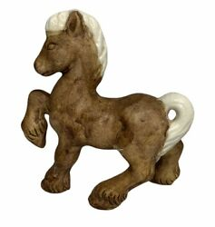 Norcrest Brown Draft Horse Foal Porcelain Figurine E-707 - Made In Japan