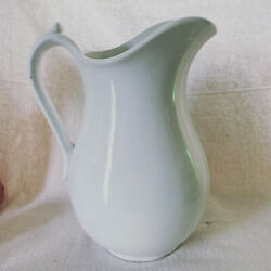 Antique White Ironstone Pitcher Made By Mellor And Company Circa 1893