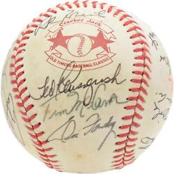 1983 Nl Team Signed Old Timers Cracker Jack Baseball With Mult Sigs - Bas A66560