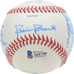 1989 Nl Team Signed Old Timers Cracker Jack Baseball With Mult Sigs - Bas A61796