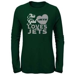 Girls New York Jets Ny Tee This Girl Loves L/s T-shirt