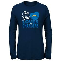 Girls San Diego Chargers Tee This Girl Loves L/s T-shirt