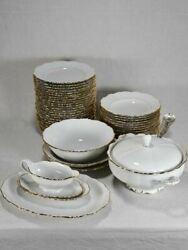 Superb 1960and039s Porcelain Dinnerware With Gold Rim