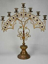 19th Century French Church Candlestick - 7 Places 25andfrac12