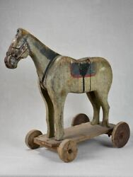 19th Century French Toy Horse - Pull Toy