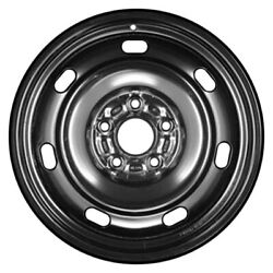 For Ford Fusion 06-11 Cci 7-slot Black 16x6.5 Steel Factory Wheel Remanufactured