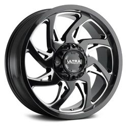 Ultra 230bm Villain With Covered Lugs Wheels 20x9 18 5x150 Rims Set Of 4