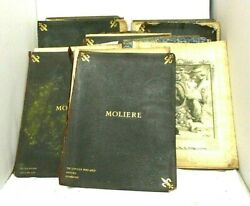 6 Book Set The Works Of Moliere Edition Coquelin Numbered Imperial Japan Paper