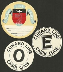 Cunard Line Cunard White Star Line1930s-60s Collection Of Luggage Labels 23 Ӝ