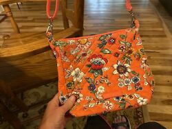 Vera Bradley Coral Floral Carson Mini Hobo Crossbody new without Tag $18.95