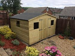 Tanalised Pressure Treated Shed 12x10 Best On Ebay