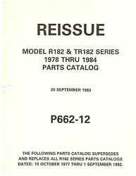 Private Owned78 Thru 84 Cessna R182 And Tr182 182rg Parts Catalogextremely Clean