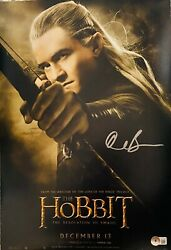 Orlando Bloom Signed 11x17 The Hobbit Poster Photo Legalos Beckett Witnessed