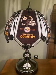 Pittsburgh Steelers Touch Table Lamp New Glass Top, Touch Base Steelers Countr