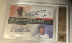 2008 Sp Authentic On Card Auto /25 Jeter Griffey Jr. With 3 10s Bgs 9.5 10 Auto