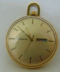 France Wittnauer 17 Jewels Pocket Watch D11v1 Second Hand And Day / Date