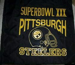 Vintage Pittsburgh Steelers Super Bowl Xxx Game Day Flag/banner Great Shape