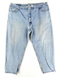 Leviand039s 560 Comfort Loose Fit 48x30 Tapered Leg Blue Jeans Classic Denim Faded