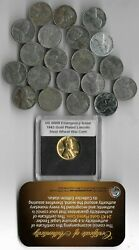 Rare Wwii Us Collection Steel Gold Penny Ww2 20 Coin Cent Vintage Big War Lot Y9
