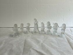 Vintage Walt Disney Productions, Snow White And The 7 Dwarf's Crystal Figurines