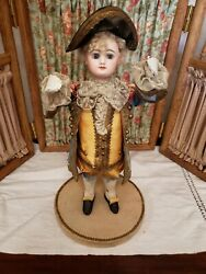 Antique French Bisque Head Promotional Display Doll